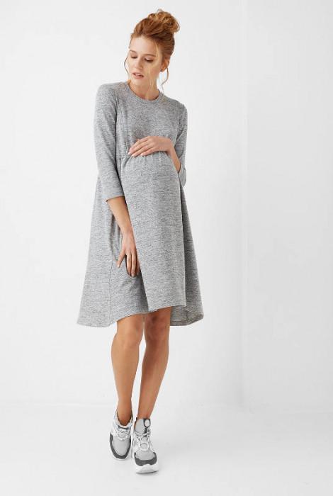 Сукня для вагітних та годування арт. 1957 0000, сірий меланж