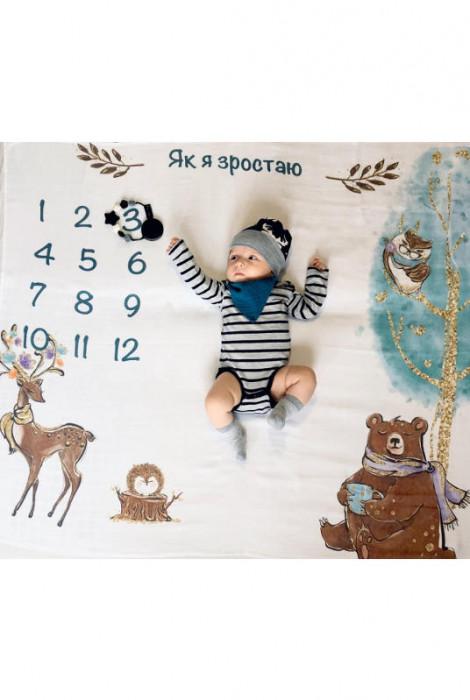 Муслінова фото пелюшка, Бохо з ведмедиком