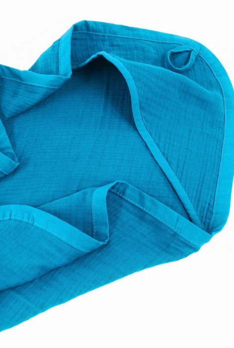 Мусліновий куточок для купання, Синій