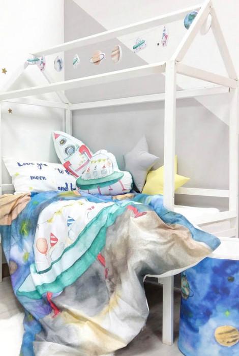 Постільна білизна в дитяче ліжко Космос