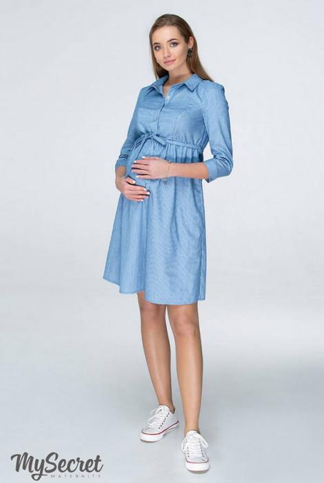 Сукня для вагітних і годування Lexie, джинсово-блакитний в смужку