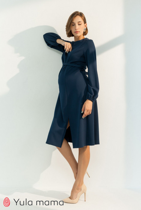 Сукня Vicky для вагітних і годування, темно-синій
