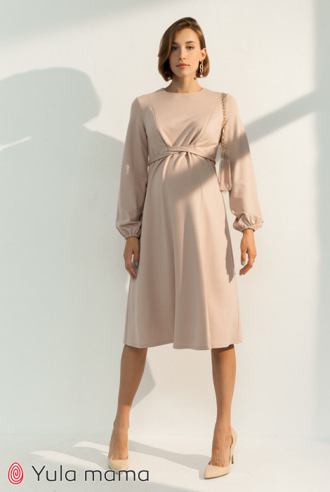 Сукня Vicky для вагітних і годування, пудра