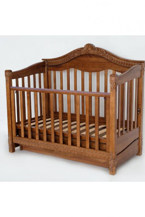 Дитяче ліжко з маятниковим механізмом Viva Victoria, горіх