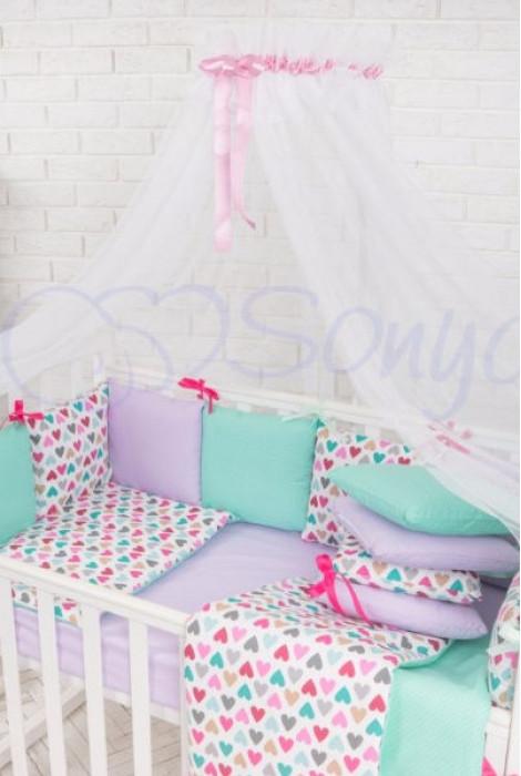 Балдахін Baby Design, білий з рожевим