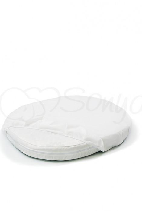 Натяжний непромокаючий наматрацник в кругле ліжечко 70х70, арт. 770032