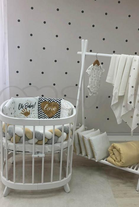 Комплект дитячої постільної білизни з 6 предметів Art Design, Oh Baby