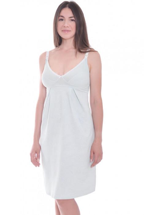Нічна сорочка для вагітних і годування арт. 24168, Mint