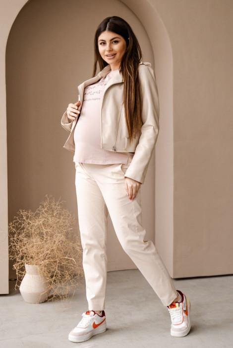 Штани 1153733 для вагітних, кремовий