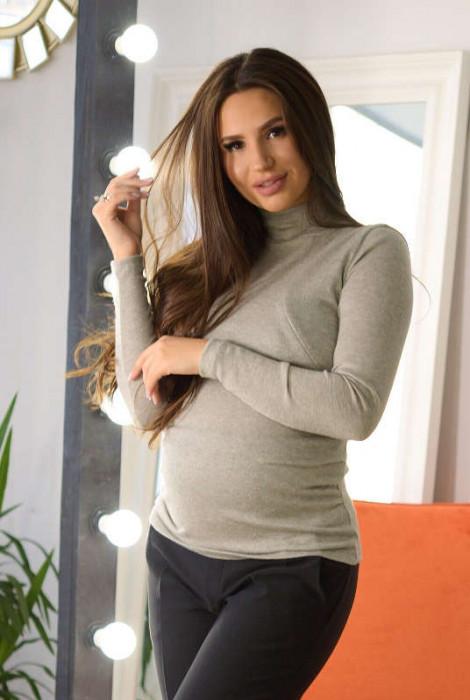 Джемпер для вагітних та годування арт.4192050, оливковий