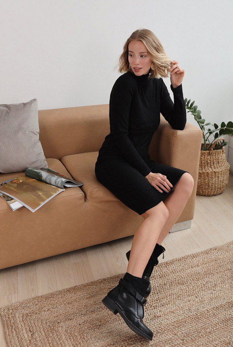 Сукня для вагітних та годування арт.4217051, чорний бурштин