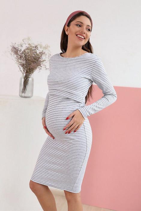 Сукня для вагітних та годування арт.4139070, смужка