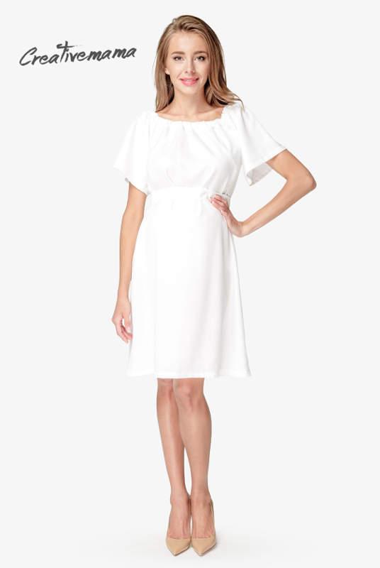 51f30c2b2c86f5 Сукня для вагітних і годування Gamma, молочний - якісний одяг для ...