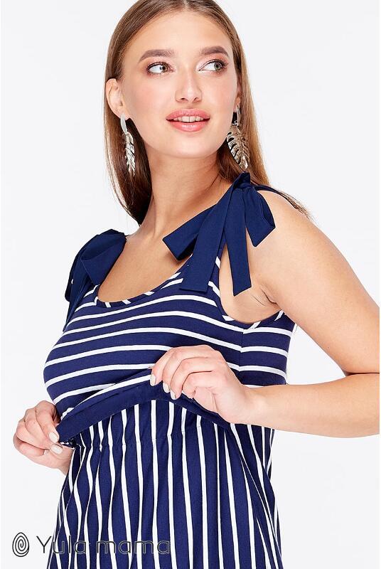 af272048c07ca3 Сарафан для вагітних і годування Mila, синьо-біла смужка - NEW лише ...