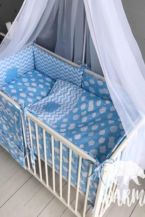 ... Хмаринки Набір в дитяче ліжко із 8 предметів d53f74d1e6d5b